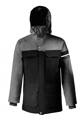 PARKA AUTHENTIC WOOL Anthracite chiné